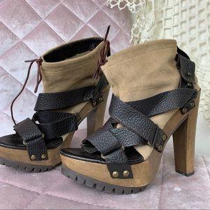 Zara Women Brown Strappy Open Toe Lita Heel 38